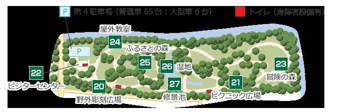 森と広場詳細地図