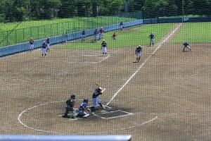 野球場 大学生による練習試合