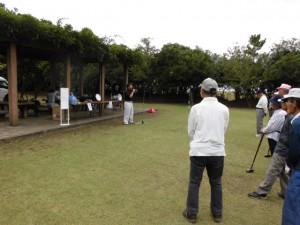 第4回 ふれあいグラウンドゴルフ大会 開会式 主催者あいさつ