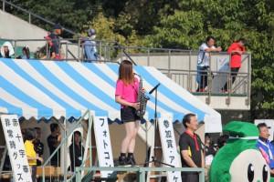 富津市観光大使 WaKaNaさんによる「君が代」演奏