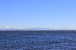 富津みなと公園から望む 富士山
