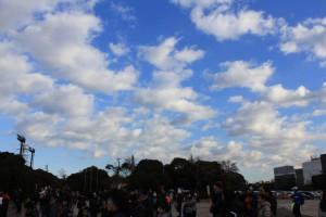 1月1日 空模様