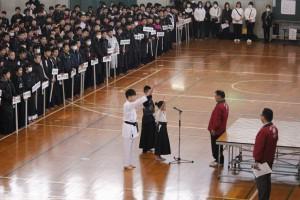 剣道・なぎなた・空手 代表による選手宣誓